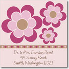 Name Doodles - Square Address Labels/Stickers (Bella Bright)
